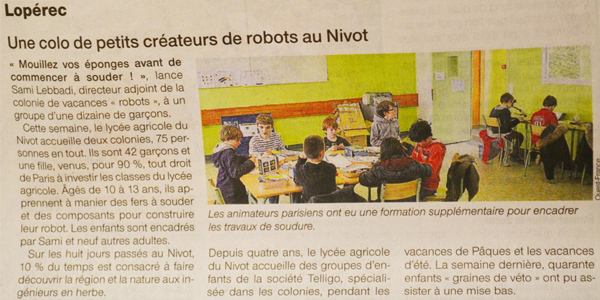article colonie robots ouest france