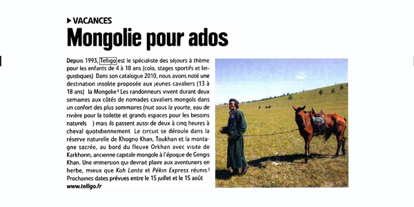 article cheval pratique colonies