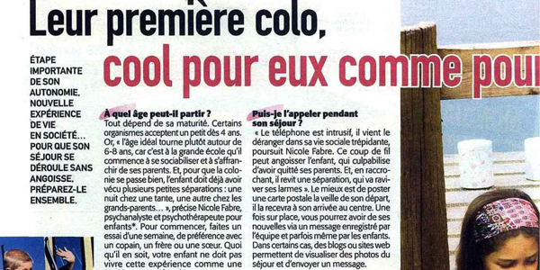article colonies de vacances